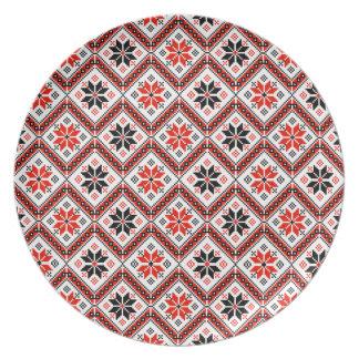 Folklore pattern plates