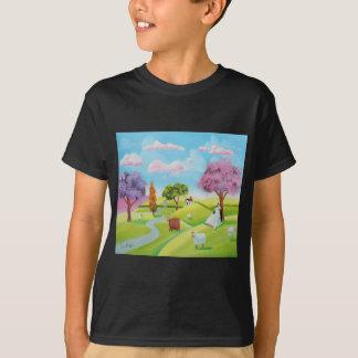 Folks art landscape painting T-Shirt