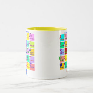 FOLKS OF LETTERS Two-Tone COFFEE MUG