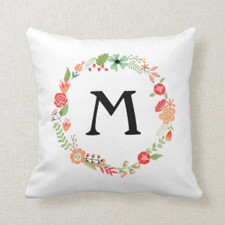 Folksy Floral with Monogram Pillows