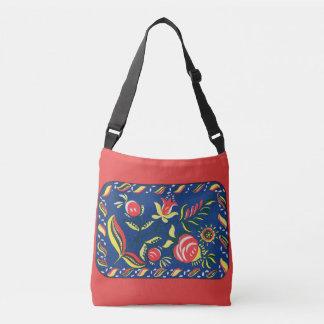 folky Pennsylvania Dutch motif Crossbody Bag
