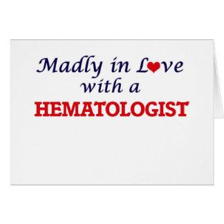 Follement dans l'amour avec un hématologue carte de vœux