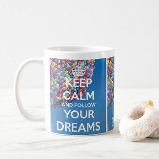 follow dreams cute puppie mug
