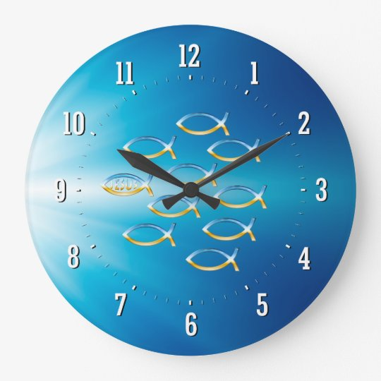 Follow Him | Christian Fish Symbol Wall Clock