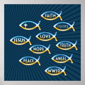 Follow Him | Christian Inspirational Poster