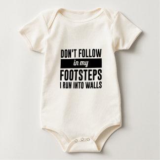 Follow in my Footsteps Baby Bodysuit