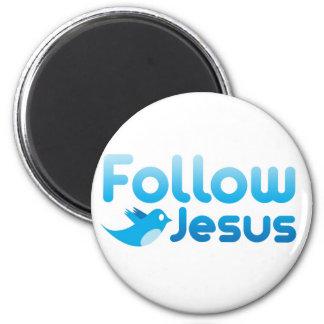 Follow Jesus Christ Twitter Humor Magnet