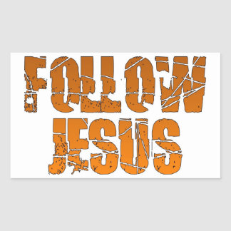 Follow Jesus Christian Sticker