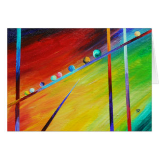 Follow Me - abstract art Card