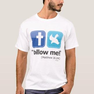 """follow me!"" Social T-Shirt 2-sided (Light)"