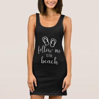 Follow Me to The Beach Summer Jersey Tank