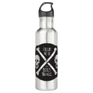 Follow Me To The Devil's Triangle 710 Ml Water Bottle