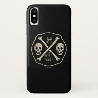 Follow Me To The Devil's Triangle iPhone X Case