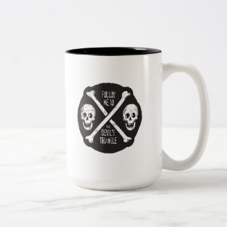 Follow Me To The Devil's Triangle Two-Tone Coffee Mug