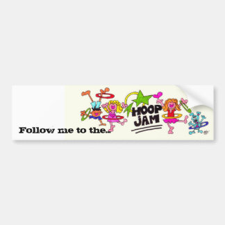 Follow me to the Hoop Jam Bumper Sticker