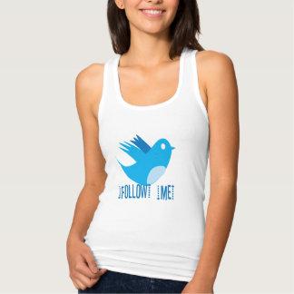 Follow Me Twitter Bird T-shirts