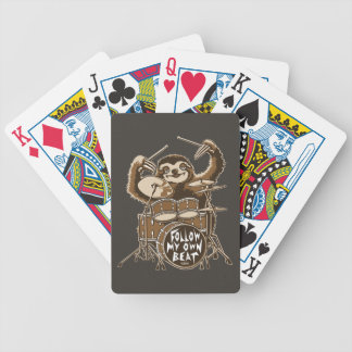 Follow my own beat bicycle playing cards