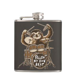 Follow my own beat hip flask
