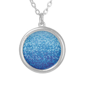 Follow the blue sea silver plated necklace
