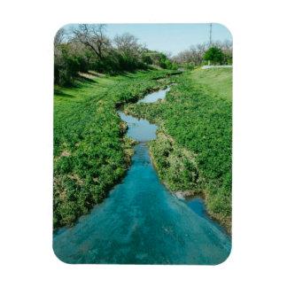 Follow the flow rectangular photo magnet