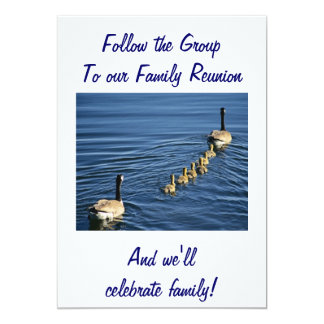 """FOLLOW THE GROUP TO FAMILY REUNION 5"""" X 7"""" INVITATION CARD"""