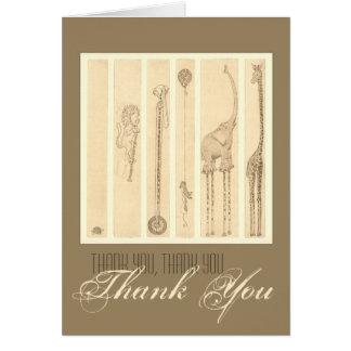 """Follow The Leader"" giraffe Thank You Card"