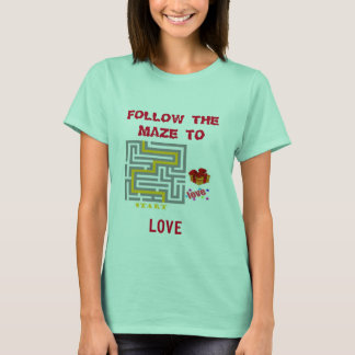 FOLLOW THE MAZE TO LOVE BASIC CLEAN MINT T-SHIRT
