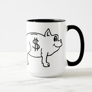 Follow the Money Piggy Bank Covfefe Mug