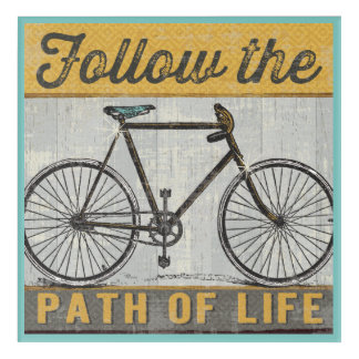 Follow The Path of Life Quote Acrylic Print