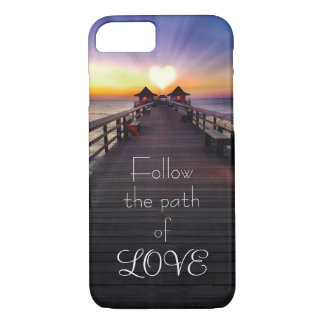 Follow the Path of Love Phone Cases