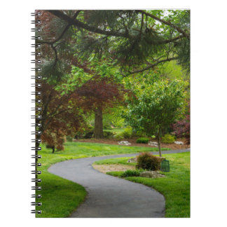 Follow The Pathway Spiral Notebook