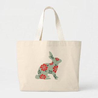Follow the rabbit Alice matrix fair isle print Large Tote Bag