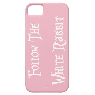 Follow the White Rabbit Alice - white/pink Case For The iPhone 5