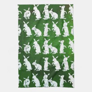 Follow the White Rabbit kitchen towel