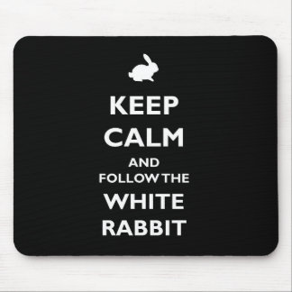 Follow the white rabbit mouse weak mouse pad