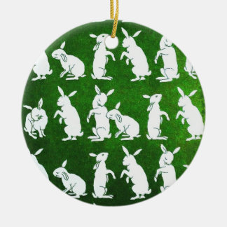Follow the White Rabbit ornament