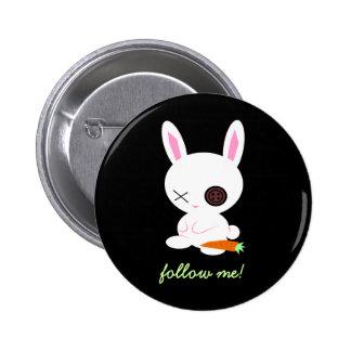 Follow the White Rabbit pin