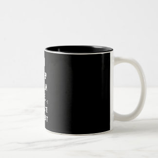 Follow the white rabbit Two-Tone coffee mug