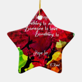 Follow this and be happy entire your life ceramic ornament