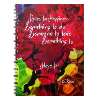 Follow this and be happy entire your life spiral notebook