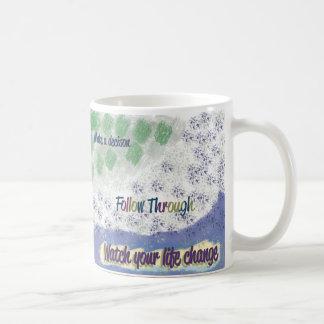 """""""Follow Through"""" Inspirational 11 oz Mug"""