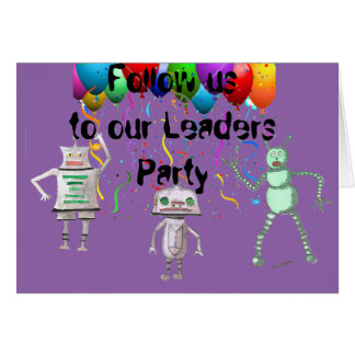Follow Us Party Invite with envelope Card