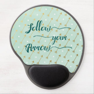 Follow Your Arrow Gel Mousepad in Mint and Gold