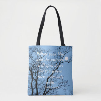 Follow Your Bliss...Moon Tote Bag