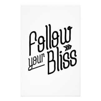 Follow Your Bliss Stationery Design