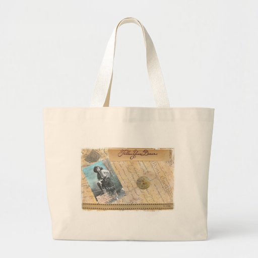 Follow Your Dreams Cowgirl Vintage Photo Collage Canvas Bag