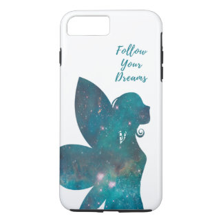 Follow Your Dreams Fairy in Blues Greens Turquoise iPhone 8 Plus/7 Plus Case