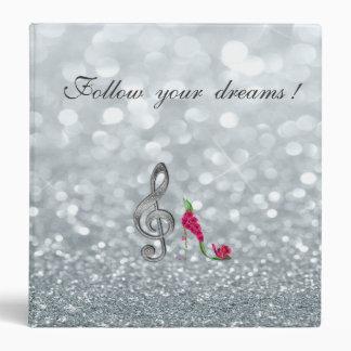 Follow your dreams, Glittery, Heels,Violine Key Binder