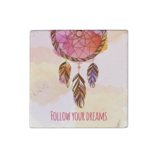 Follow Your Dreams Marble Magnet
