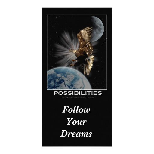"""Follow Your Dreams""  Motivational Cards Picture Card"